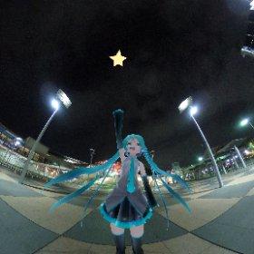 あれがマジカルミライの星!明日から2日間頑張りますよ!!  #miku360 #マジカルミライ2018 #マジカルミライ #theta360