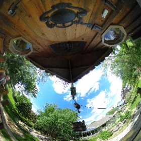 My backyard viewed from the porch of the 'adult' treehouse.  Copyright by Dr Roisum, POVphotosplus.com, 2017. #theta360