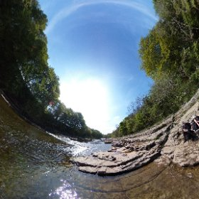 360 shot of Aysgarth Falls taken by me standing in the river  #theta360 #theta360uk