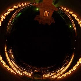FIREWORKSVIEWER様「法多山の万灯祭」 2016年7月10日の法多山の万灯祭です。何千基もの灯籠が奉納され幻想的でした。 #theta360