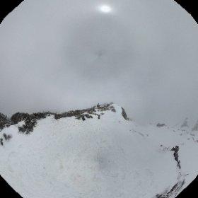 冰雪南湖。第三大溝橫渡二之六,北稜上。 #theta360