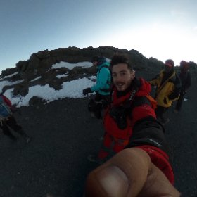 Almost to the top of 5,895m #Kilimanjaro! Check out all that glacial ice!! #theta360 #sevensummits