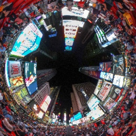 #TimesSquare #NYC An awesome summer night hanging out on the steps in Times Square.  #jampacked #theta360