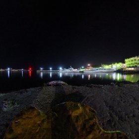Ночная Ялта с кораблем #theta360