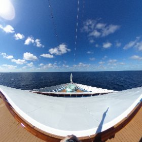 360 from the front of the Carnival Vista as we sail home #theta360