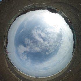 平成27年2月24日 薄磯の防災緑地予定地で撮影した全天球写真です