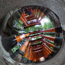 Fushimi Inari Taisha, Kyoto, Japan #theta360