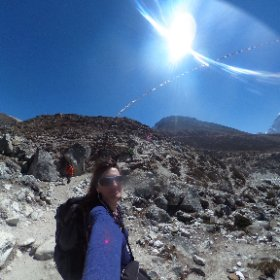 Flying prayer flags on my journey to Everest Base Camp to climb that beast of a mountain #theta360 #theta360uk