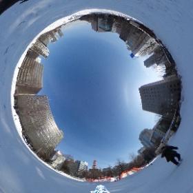 旅行で訪れた札幌の大通公園で  #miku360 #theta360