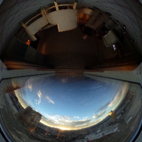 Sunset on the #lasvegas strip viewed from the 50th floor at #thewynn #theta360