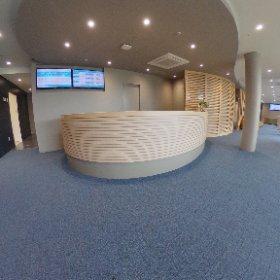 新棟1階、外来受付です。 近くには売店もあります。 #theta360