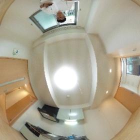 世田谷区玉堤にあります「メゾンT・Rブリーズ」の1DKマンションのダイニングキッチンパノラマ写真です。http://www.futabafudousan.com #theta360