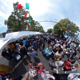 ナポリ通りの風と光のナポリ祭来て見ました。 #theta360