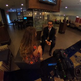 Jorge Aguilar, getting interviewed during GradNation #WakeReady #GradNation #theta360