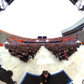 360 of UF president Fuchs taking a photo of the Graduates in The Swamp. #UFGrad #theta360
