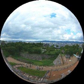 大和郡山城天守台からの景色。 #theta360