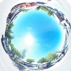 全日本ラリー洞爺の会場風景です。 #theta360