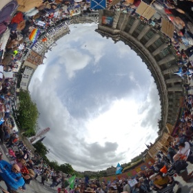 Anti-Trident rally at The Mound in Edinburgh today. #theta360