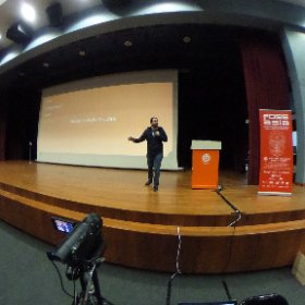Hall is filling up! #fossasia