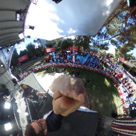 A 360 shot of the crowd at the @MSNBC set here at @UNLV ahead of tonight's 3rd and final debate: