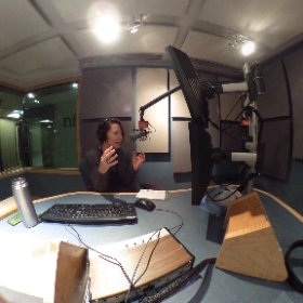 What it looks like when Virginia Prescott tapes an interview for Word of Mouth - in 360 degrees