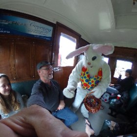 Look who we met on the Goolwa to Victor Harbor Cockle train.