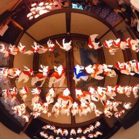 和のあかり×百段階段展 日本の祭り、12のあかり #百段階段 #和のあかり #theta360