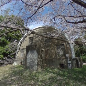 Gautier Meridian Circle Building with Cherry Blossoms
