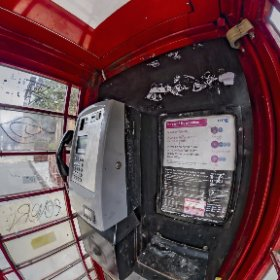 Phone Booth at St.Pancras Station #thetaz1 Single DNG #theta360