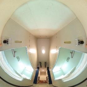 名門大洋フェリー「ふくおかII」2等洋室(ツーリスト)下段の寝台パノラマ #theta360