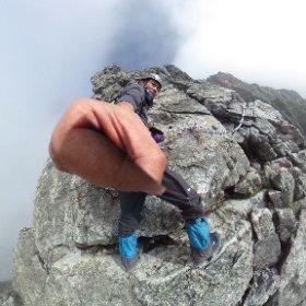 剱岳 カニの横ばい
