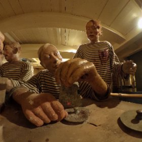 Danish frigate Jylland, The crew's diner #theta360