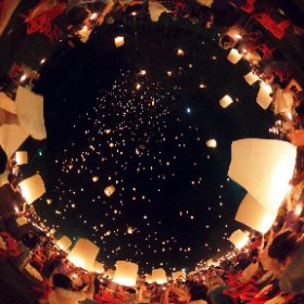 Loy Krathong Lantern festival 2015 in Mae Jo University, Chiang Mai, Thailand