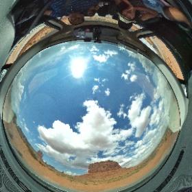 Cockpit View, Monument Valley  #theta360