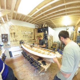 #otter #surfboards #workshop #wood #theta360