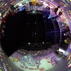 光の切り絵展 パティオ池鯉鮒 20161217 #theta360