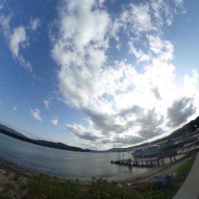 天橋立 遊覧船乗り場 左手に天橋立 VRでバイク旅 日本一周【50日目】http://www.merkurlicht.com #theta360