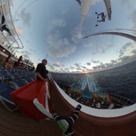 Watching the sunrise from the Carnival Vista #theta360