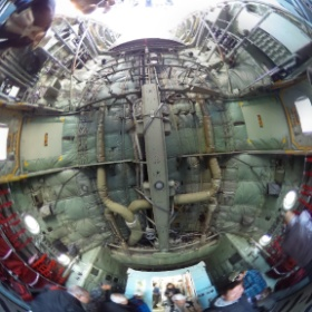 C-130Hハーキュリーズの機内!スゴイ!やっぱシータ買って正解だったわ!*\(^o^)/* #入間航空祭 #RICOH #THETA  #theta360