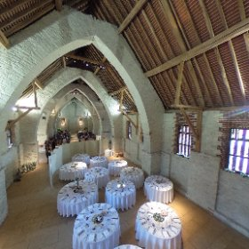 The stunning Tithe Barn in Ditcham today