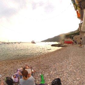 #Croatia #Komiža #beach #holiday  #theta360