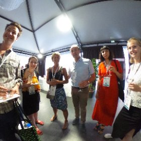 Media party at ESOF #theta360