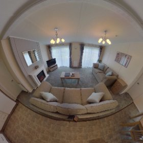 'Dentdale' 2 bed lodge,Wenningdale Escapes, Bentham, North Yorkshire. #theta360 #theta360uk