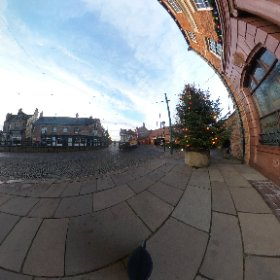 The 1900s town at #Beamish in County Durham at #christmas time. #theta360 #theta360uk