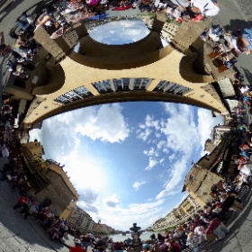 The middle of Ponte Vecchio Firenze in 360° #visitFlorence #theta360