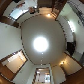 世田谷区等々力にあります「葵マンション」2LDKのキッチンパノラマ写真です。http://www.futabafudousan.com #theta360
