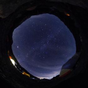 立山雄山登山、雷鳥沢キャンプ場の満天の星! #立山 #雷鳥沢キャンプ場 #満天の星  #theta360