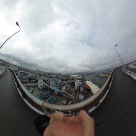 なみはや大橋-大阪の港を一望できる #theta360