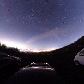 須走口から眺める星空