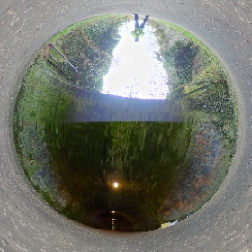 Final 360º shot today at the Duddingston end of the Innocent Railway tunnel.  #theta360